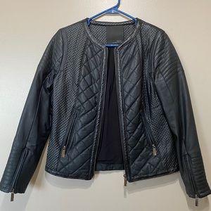 Kelly Osbourne STORIES Black Quilt Leather Jacket